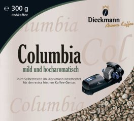 Green Columbia Coffee